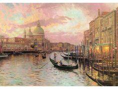 Thomas Kinkade Venice Painting Limited Edition Canvas