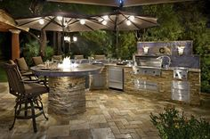 outdoor barbecue island | Galaxy Outdoor Custom Outdoor Kitchens, Barbecue Grills, Fire Pits ...
