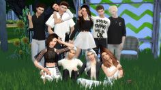 Sims 4 Updates: Glow Legacy - Poses : Group Posepack 01, Custom Content…