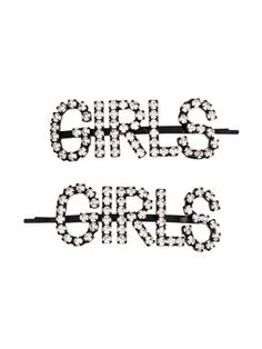 Ashley Williams Girls Crystal-embellished Hair Pins In Black Ashley Williams, New Sign, Black Crystals, World Of Fashion, Luxury Branding, Hair Pins, Slogan, Girls, Toddler Girls