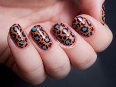 OPI Nordic Collection Leopard Print Nail Art | Chalkboard Nails | Nail Art Blog