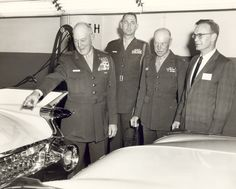 military officers, invited to visit the factory plant and the production of 1959 Cadillacs