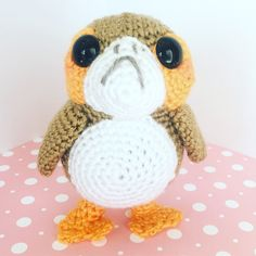 A quick and easy amigurumi crochet Porg for the Star Wars fan in your life!