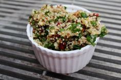 I love a flavorful quinoa salad I can prepare in advance during the summertime. I can serve it up with some grilled veggies and chicken or fish… and dinner is served! My husband, Russ loves …