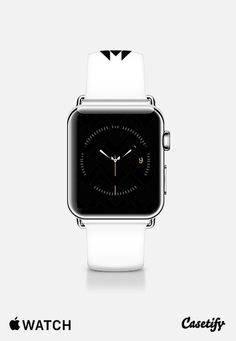 chevron black and white Apple Watch Band (38mm) by VanessaGF   Casetify   #watch, #applewatch, #watches, #casetify, #chevron , #pattern