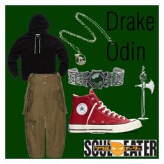 Drake Odin by guinandgrace on Polyvore featuring Marc Jacobs, Converse, Bling Jewelry, souleater, guinandgrace and OtakuDesigns