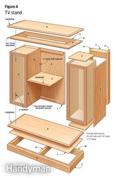 DIY Furniture: TV stand made from two upper cabinets.
