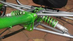 Suspension close-up, fully independent suspension tadpole-trike