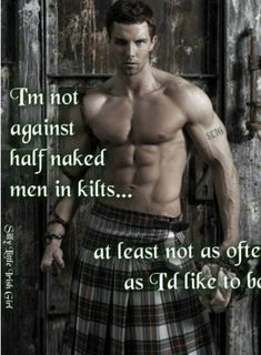 I love a man in a kilt! A collection of photos of men in kilts that put a smile on my face and that get my heart racing! Irish Girls, Irish Men, Scottish Man, Eye Candy Men, Men In Kilts, Raining Men, Muscle Men, Just For Laughs, Man Crush