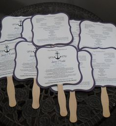 you probably wouldn't need these in september but they are super cute Nautical themed wedding fans with program www.wreathartist.etsy.com