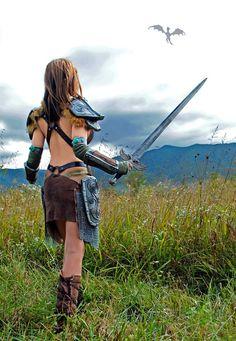 Aela the Huntress Skyrim cosplay by April Gloria by aprilgloriacosplay on deviantART