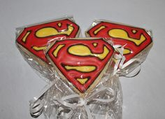SUPERMAN super hero Decorated Sugar cookie by PalmBeachPastry, $39.00