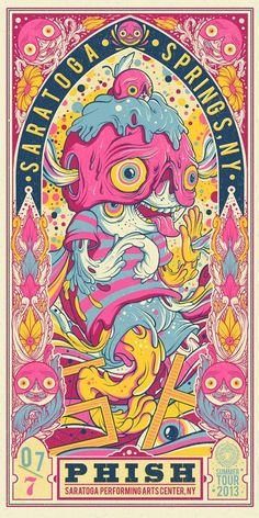 Phish posters by Drew Millward