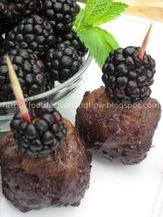 Blackberry Pinot Noir Meatballs