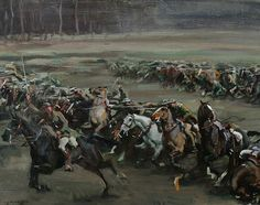Dedicated to the war horse: The charge at Moreuil Wood in 1918 was painted by Sir Alfred Munnings for General Jack Seely's book about Warrior
