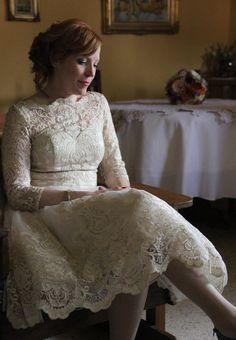 #lace #cream #wedding #bride