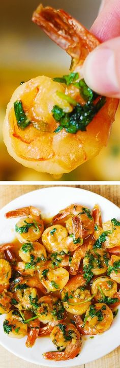 Cilantro-Lime Honey Garlic Shrimp - easy, healthy, gluten free appetizer. Low fat, low carb and low cholesterol recipe.