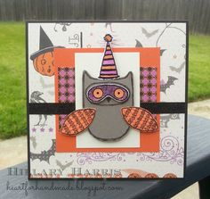 CTMH Scaredy Cat with August SOTM What a Hoot. CTMH Blog Boosters New Product Hop