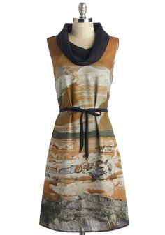 Sedona and Dancing Dress. The scenery is breathtaking, but nothing compares to how you look in this unique Skunkfunk dress, available for purchase in October! #tan #modcloth