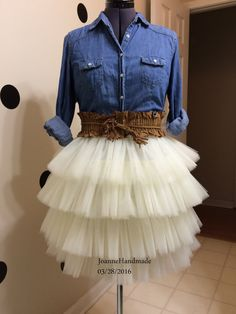 Custom Made Adult Four Tiered Tulle Tutu Style by JoanneHandmade