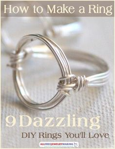 Wire Wrapped Circle Ring Tutorial Learn how to make a circle ring with this awesome tutorial. With this Wire Wrapped Circle Ring Tutorial you will learn how to make a gorgeous wire ring, plus pick up general DIY ring making tips. Diy Jewelry Rings, Diy Jewelry Making, Jewelry Crafts, Jewelry Accessories, Jewellery Box, Beaded Rings, Jewelry Ideas, Silver Jewelry, Jewellery Shops