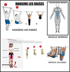 Hanging Leg Raise - Exercises To Target Different Sixpack Abs - Yeah We Train !