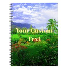 Tropical Kauai Hawaiian Island Notebook - photos gifts image diy customize gift idea