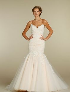 Jim Hjelm - Sweetheart Mermaid Gown in Lace