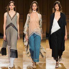 Gostei muito da @vionnet_paris que pra mim teve um quê de Chloé. Peças leves pontuadas por rendas combinadas a alfaiataria. Adorei o look do meio com jeans e fiquei com vontade de usar vestidos sobre calças. Boas ideias de styling! #pfwporbiaperotti #pfw #vionnet