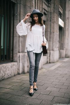 Fall boho outfit featuring Zara black lace up flats and Brixton fedora hat Fall boho outfit featuring Zara black lace up flats and Brixton fedora hat Black Lace Up Flats, Lace Up Shoes, Flat Shoes, Boho Outfits, Casual Outfits, Spring Work Outfits, Winter Outfits, Zara Outfit, Flats Outfit