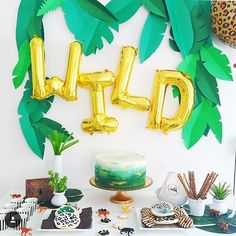 Such a rad WILD CATS party by @collectedblog #poprocparties #partyinspiration…