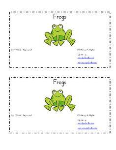 frog emergent reader