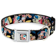 Buckle-Down 9-15' 'RNA-Ren and Stimpy Pose Black' Dog Collar -- Learn more by visiting the image link. (This is an affiliate link and I receive a commission for the sales)