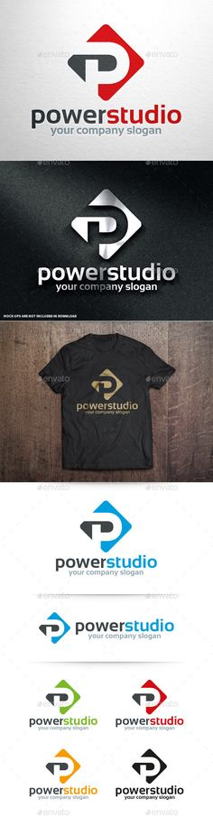 Power Studio Letter P - Logo Design Template Vector #logotype Download it here: http://graphicriver.net/item/power-studio-letter-p-logo/10715803?s_rank=1526?ref=nexion