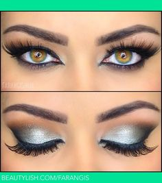 Silver Eye Makeup,