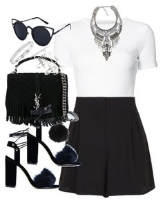 """""""Untitled #5247"""" by angela379 ❤ liked on Polyvore featuring Rosetta Getty, Topshop and Yves Saint Laurent"""