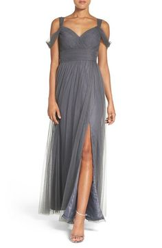 Watters 'Gladiola' Off the Shoulder Tulle A-Line Gown available at #Nordstrom