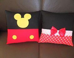 Almofada Minnie E Mickey(25x25cm)