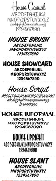 House Sign Painter Kit casual lettering layout