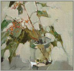 ❀ Blooming Brushwork ❀ - garden and still life flower paintings - Veronica Lobareva | Elderberries
