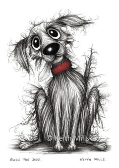 Rags the dog Print A4 size picture Quite scruffy by KeithMills