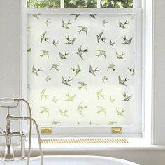 Apply window film for privacy for a modern alternative to a sheer panel then dress with a pelmet, blind or curtains. Would be awesome in a cottage Bathroom Window Dressing, Bathroom Window Privacy, Bathroom Window Glass, Bathroom Window Treatments, Bathroom Blinds, Bathroom Windows, Privacy Window Film, Privacy Blinds, Kitchen Windows