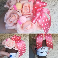#virágfalu #rózsabox #habrózsa #habrózsa_pohárban #poharas_habrózsa #habos_babos #ajándék #nőnap #névnap #cukorkás #asztaldísz #ajándékkártya #anyák_napja #anyák_napi_ajándék Ribbon, Candy, Flowers, Pink, Tape, Band, Ribbon Hair Bows, Sweets, Royal Icing Flowers