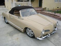vintage rag top kharmann ghia - will buy my husband one of these.  his favorite car ever!!!  love this color scheme.