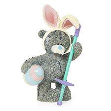 Bunny Hop Me to You Bear Figurine