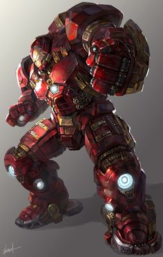 Cartoons And Heroes — thecyberwolf:   Iron Man Hulkbuster Created by...