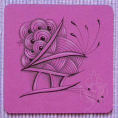 Zendoodle-Wege: Zentangle-inspirierte-Kunst – Versuch in Pink