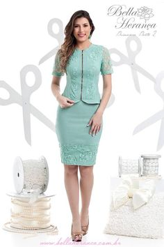 Discover recipes, home ideas, style inspiration and other ideas to try. Casual Dresses, Short Dresses, Fashion Dresses, Work Dresses For Women, Suits For Women, Turquoise Clothes, Classy Suits, Formal Wear Women, Work Attire