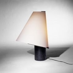Massimo Vignelli; Marble and Glass Lamp, 1960s.