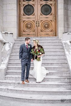 A Beautiful Winter Wedding At The Salt Lake Temple With Luncheon Lion House And Reception Joseph Smith Memorial Building Lace Dr